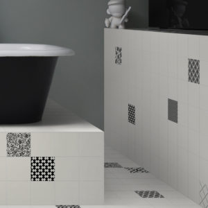 Colibri Bianco Plain & various Nero Patterns