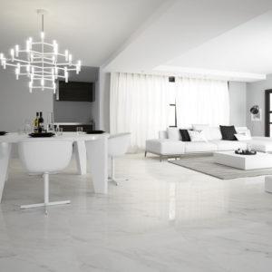 Tuscany Room setting Calacatta gloss