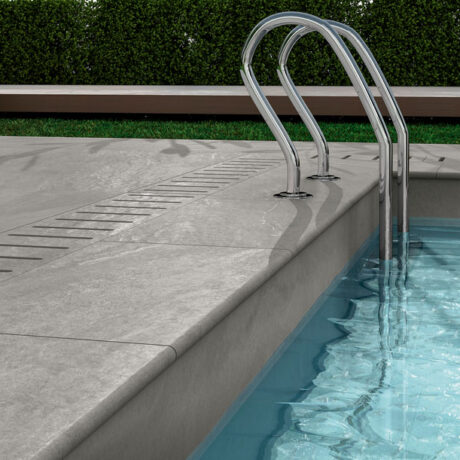 Patio Light Grey Pool Ambient showing special pieces